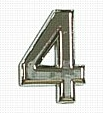 Chrome Number Style 1 - 4