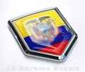 Ecuador Flag Crest Car Badge