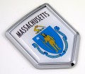 Massachusetts Flag Crest Car Badge