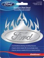 Stainless Flaming Ford Logo Decal Car Badge