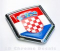 Croatian Flag Crest Car Badge
