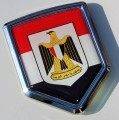 Egyptian Flag Crest Car Badge