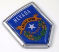 Nevada Flag Crest Car Badge