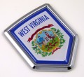 West Virginia Flag Crest Car Badge