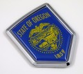 Oregon Flag Crest Car Badge