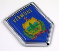 Vermont Flag Crest Car Badge