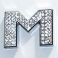 Crystal Letter Silver - M