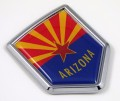 Arizona Flag Crest Car Badge
