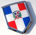 Dominican Republic Flag Crest Car Badge