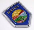 Montana Flag Crest Car Badge