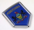 Pennsylvania Flag Crest Car Badge