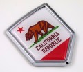California Flag Crest Car Badge