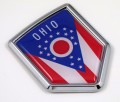 Ohio Flag Crest Car Badge