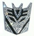 Transformer Decepticon BLING Emblem Car Badge