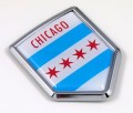 Chicago Flag Crest Car Badge